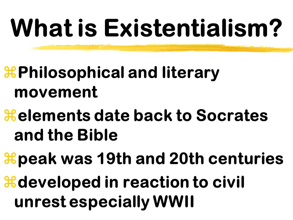 MAJOR EXISTENTIALIST THEMES zMoral Individualism zChoice & Commitment  Dread & Anxiety