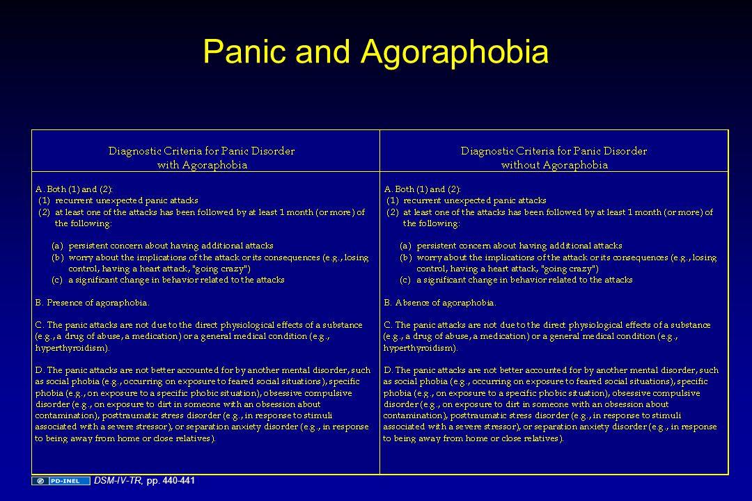 Panic and Agoraphobia DSM-IV-TR, pp. 440-441