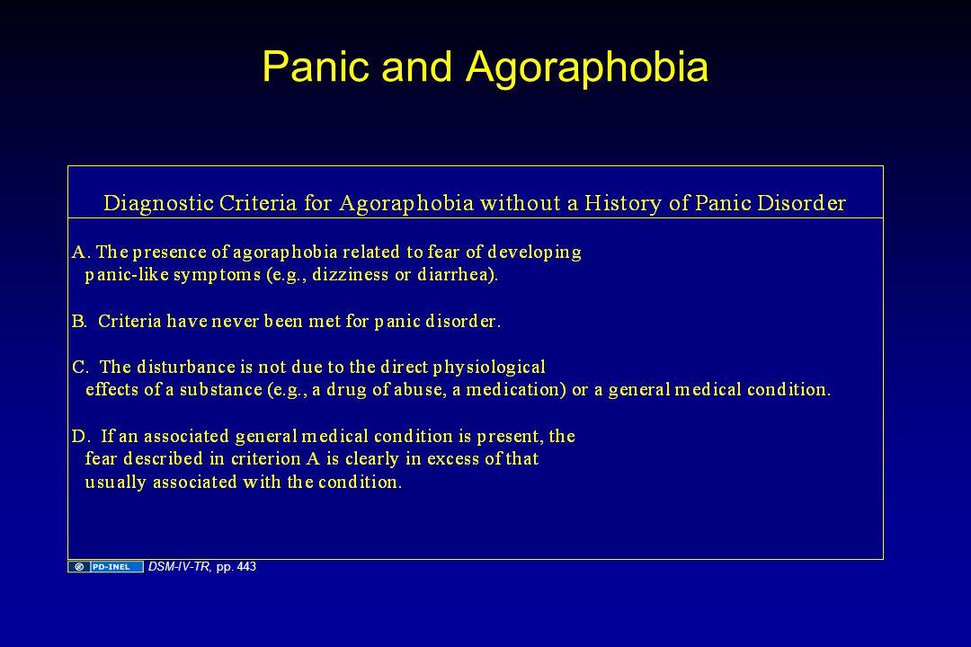 Panic and Agoraphobia DSM-IV-TR, pp. 443