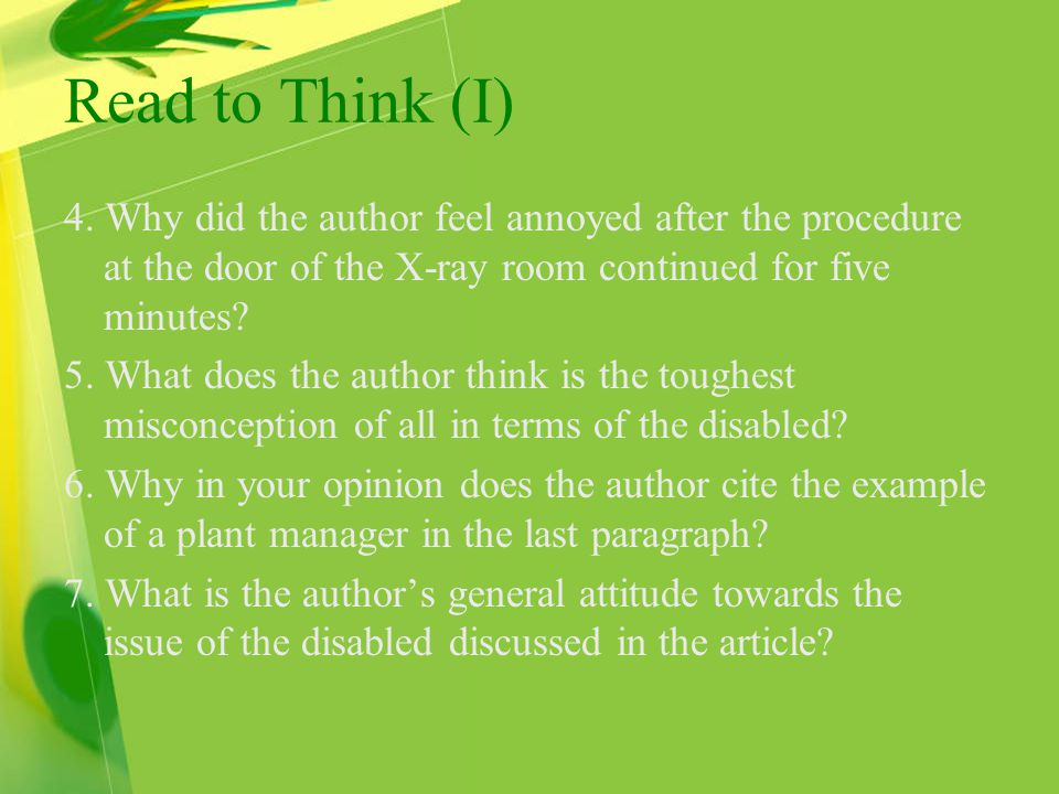 Read to Think (I) 4.