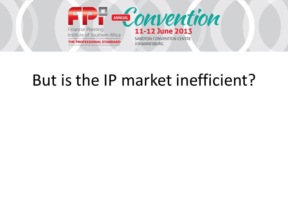 But is the IP market inefficient?