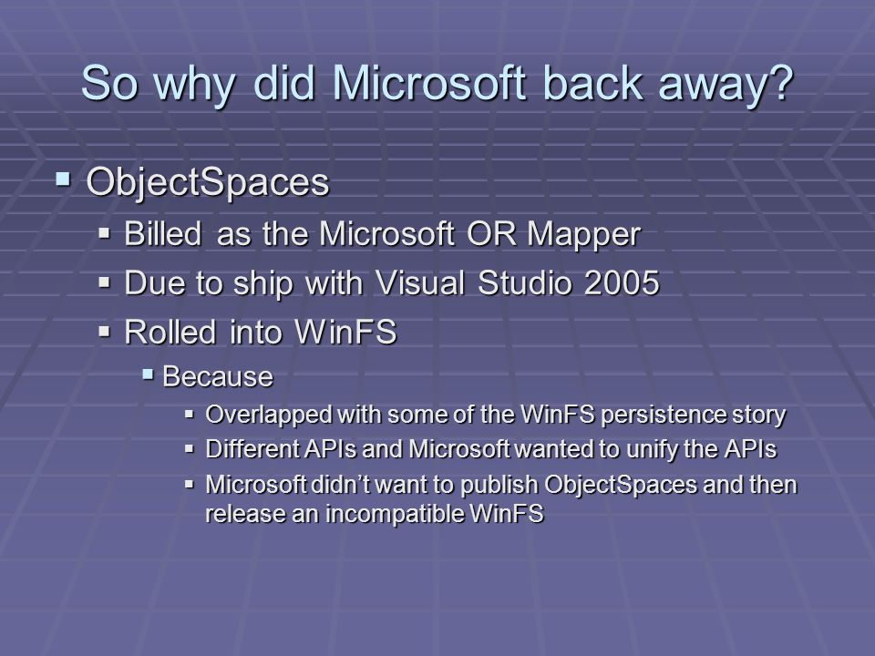 So why did Microsoft back away.