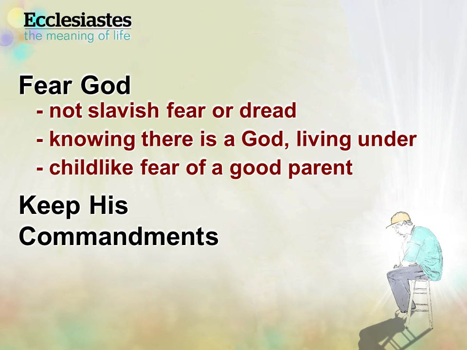 And He said, Do not lay your hand on the lad, or do anything to him; for now I know that you fear God, since you have not withheld your son, your only son, from Me. Genesis 22:12