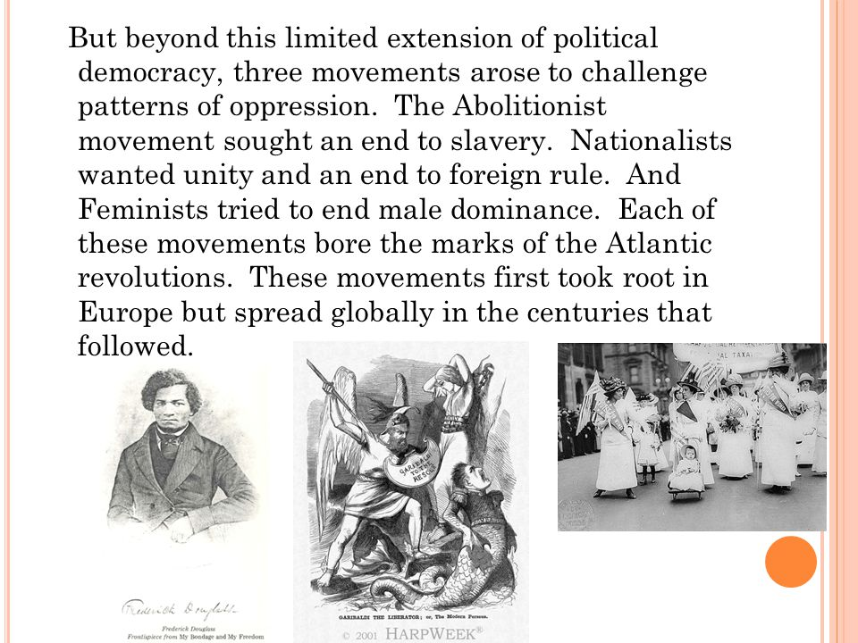 But beyond this limited extension of political democracy, three movements arose to challenge patterns of oppression.