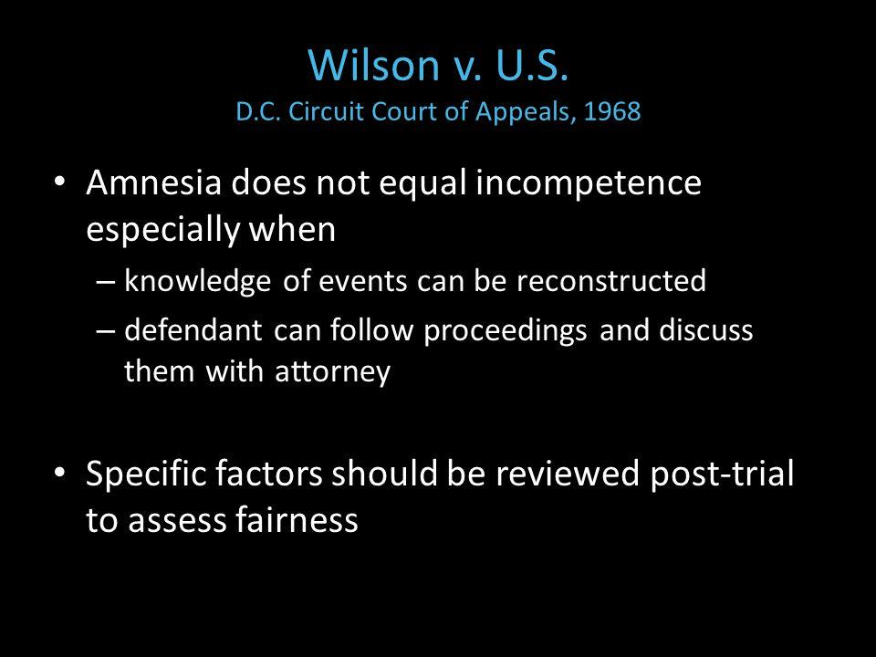 Wilson v. U.S. D.C.