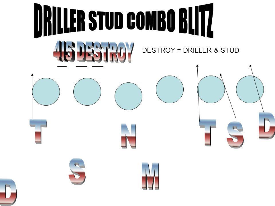 DESTROY = DRILLER & STUD
