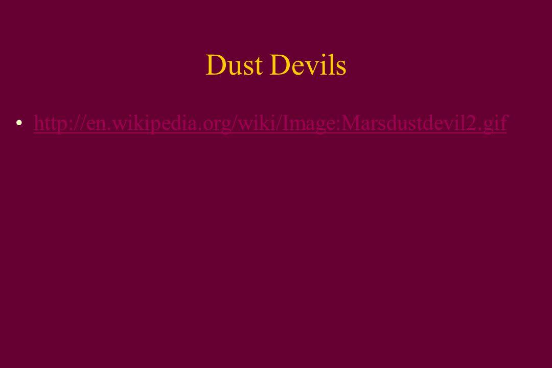 Dust Devils http://en.wikipedia.org/wiki/Image:Marsdustdevil2.gif