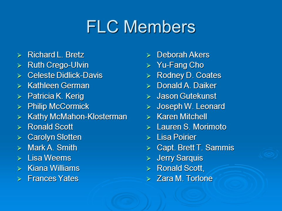 FLC Members  Richard L.