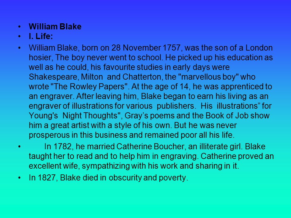 William Blake I.
