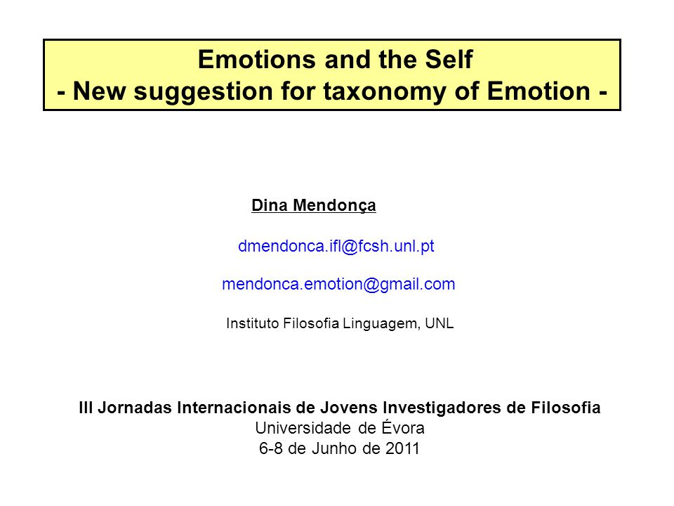The paper proposes that establishing a connection between the concept of core self with the narrative self provides a way to better grasp the dynamic nature of emotions and suggests a surprising novel contribution for emotion taxonomy.
