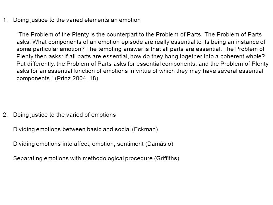 Conclusion: Novel suggestion for emotion taxonomy Novel Suggestion: Instead of labeling emotion based on their nature we could label them in terms of the connection to the self And we may find interesting distinctions in sadness, fear, and joy in its appearance in the minimal self with connection with the narrative self.