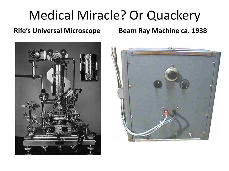 Medical Miracle Or Quackery Rife's Universal MicroscopeBeam Ray Machine ca. 1938