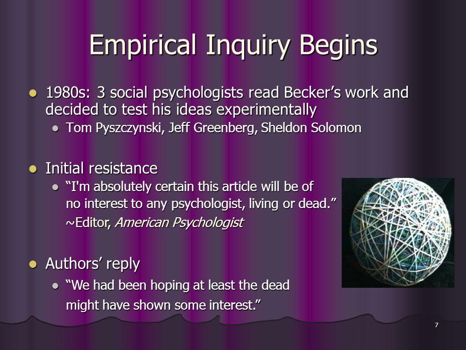 18 5.Prosocial Behavior Efforts to benefit present vs.
