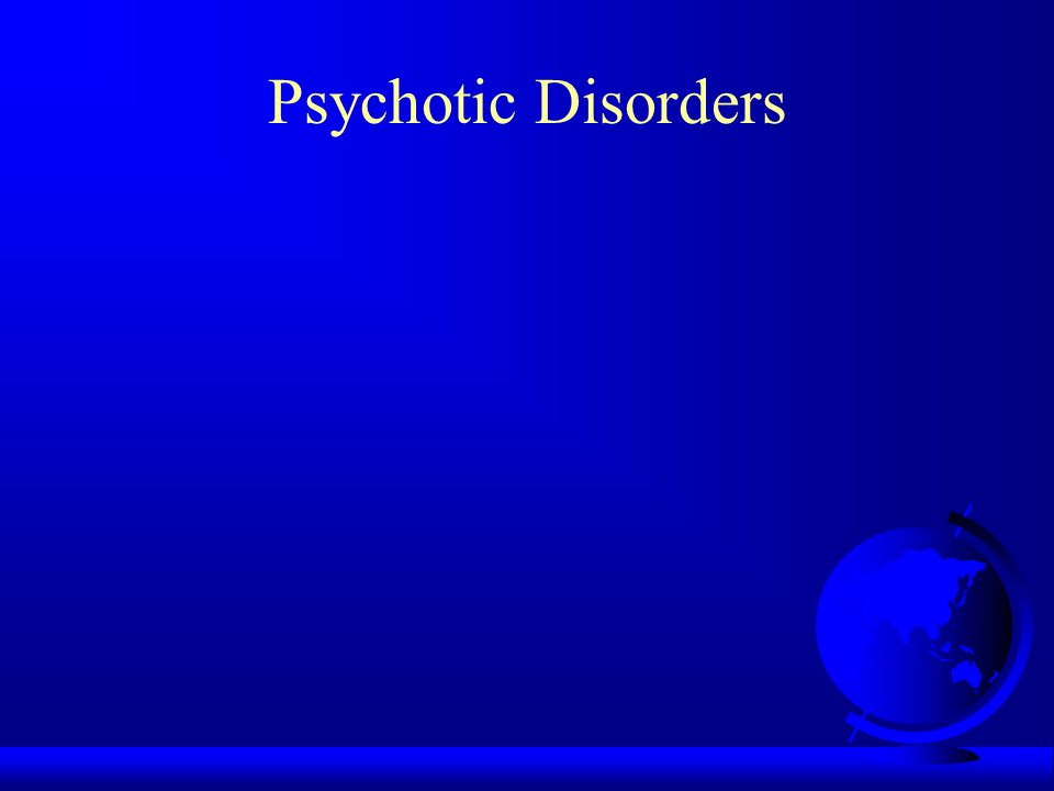 Atypical Psychotic Disorders F Example: Shared Psychotic Disorder (folie a deux) F Aeromedical disposition: - NPQ/unfit - medical board discharge - no waiver