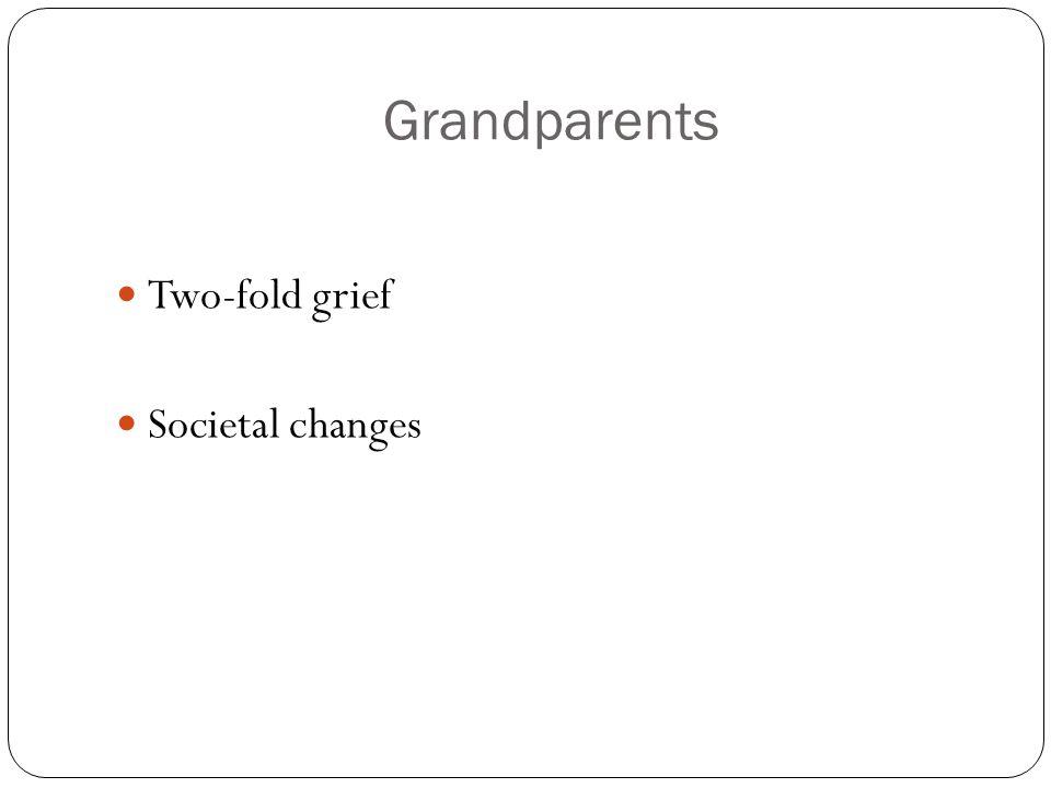 Grandparents Two-fold grief Societal changes