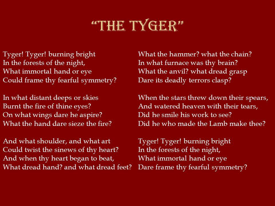The Tyger Tyger. Tyger.