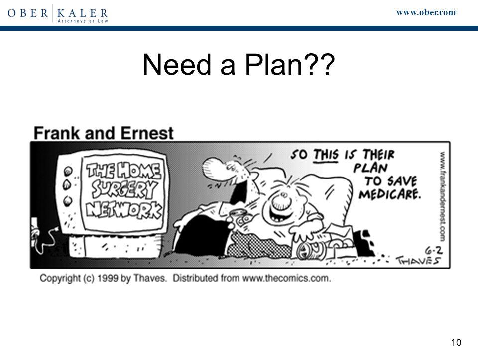 www.ober.com 10 Need a Plan