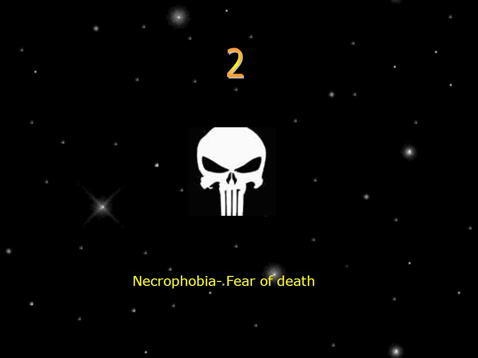 Necrophobia- Fear of death