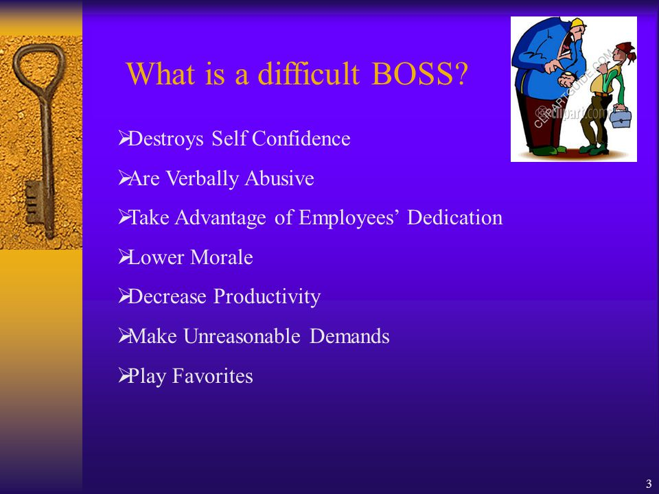 3 What is a difficult BOSS.