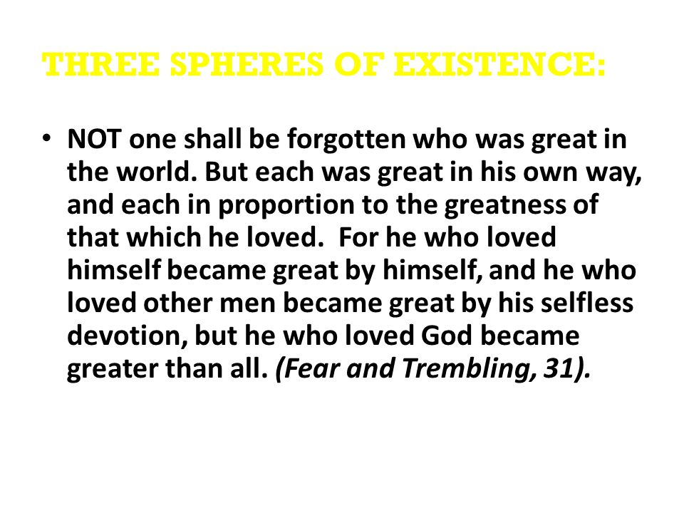 THREE SPHERES OF EXISTENCE: NOT one shall be forgotten who was great in the world.