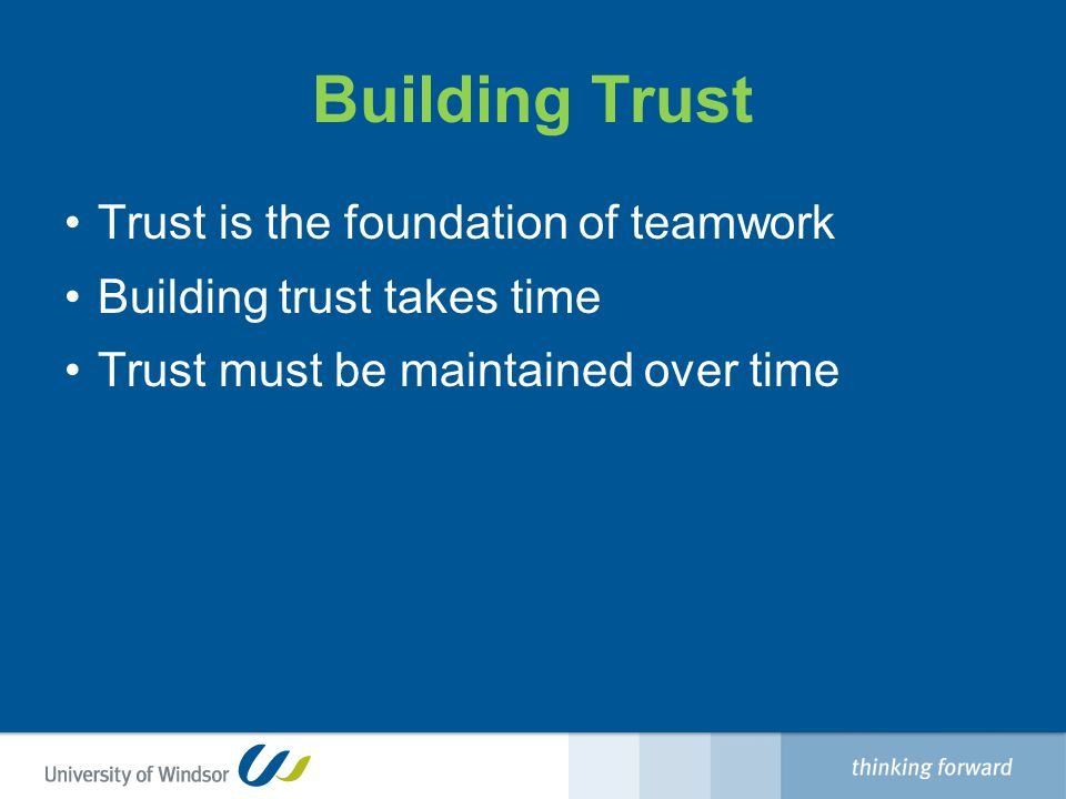Members of Teams that Lack Trust Conceal their weaknesses and mistakes from one another Hesitate to ask for help or provide constructive feedback Hesitate to offer help outside their own areas of responsibility Jump to conclusions about the intentions and aptitudes of others without attempting to clarify them