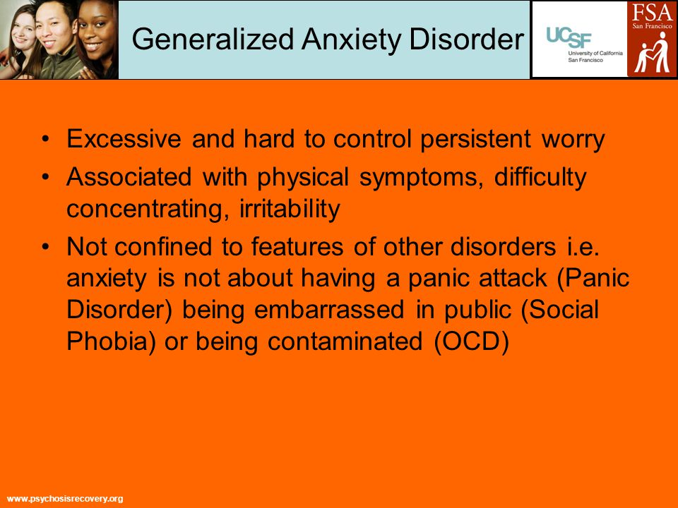 www.psychosisrecovery.org Treatment Guidelines Guidelines recommend use of psychotherapy (CBT) in treatment of anxiety disorders NIMH – Medication will not cure anxiety disorders but will keep them under control while the individual receives psychotherapy