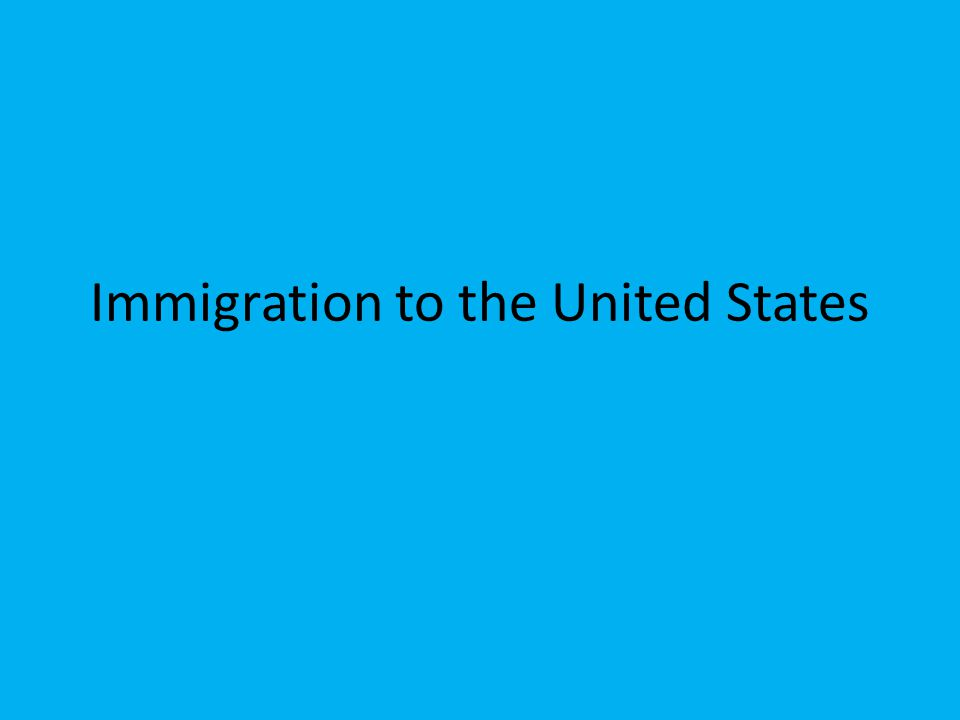 Immigration to the United States