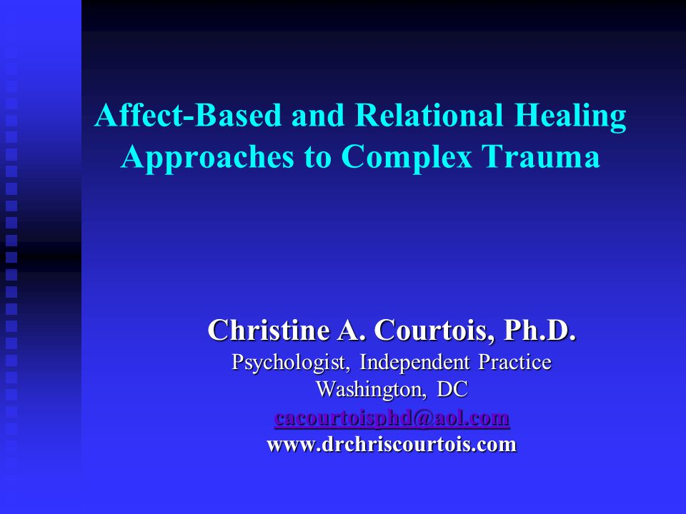 Interpersonal Trauma: A break in the human lifeline Robert Lifton Self and interpersonal effects brought to treatment