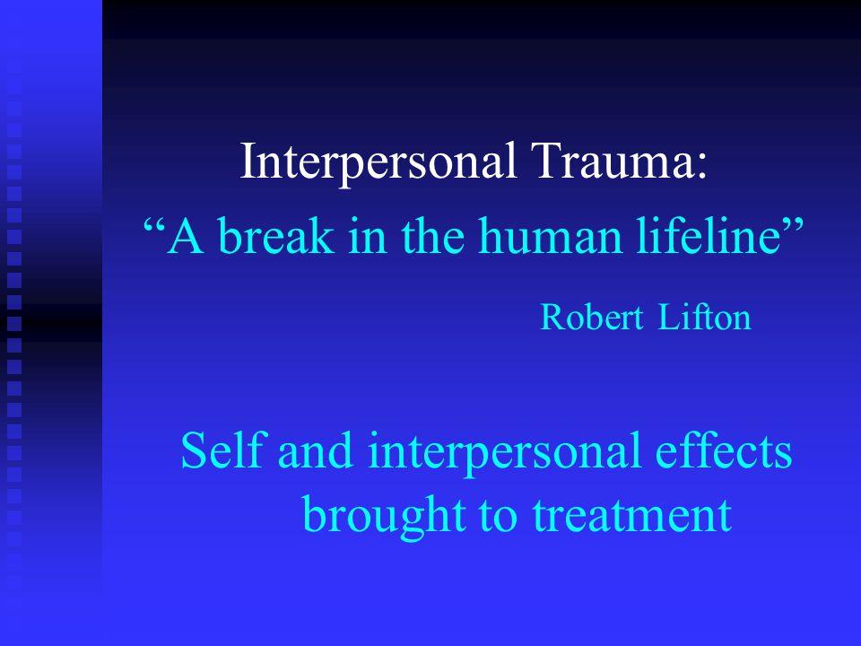 Relational Healing for Relational/Interpersonal Injury