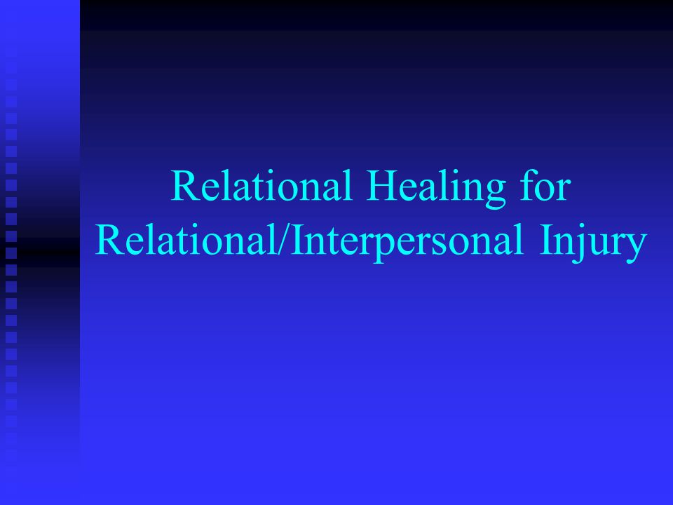 The Therapy Relational Matrix Posttraumatic Involving one or a combination of re- enactment, re-experiencing, and re- victimization phenomena and alterations between numbing/denial and intrusion symptoms along with hyperarousal and startle responses.