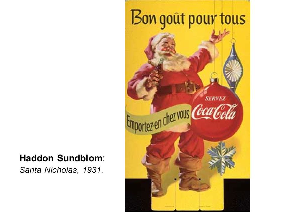 Haddon Sundblom: Santa Nicholas, 1931.