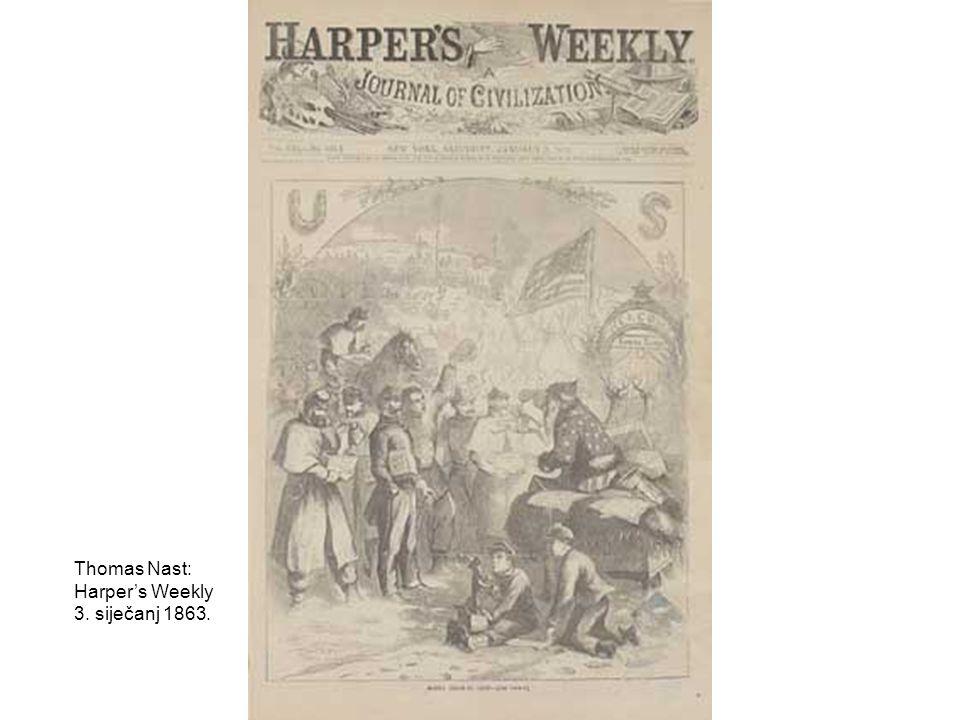 Thomas Nast: Harper's Weekly 3. siječanj 1863.