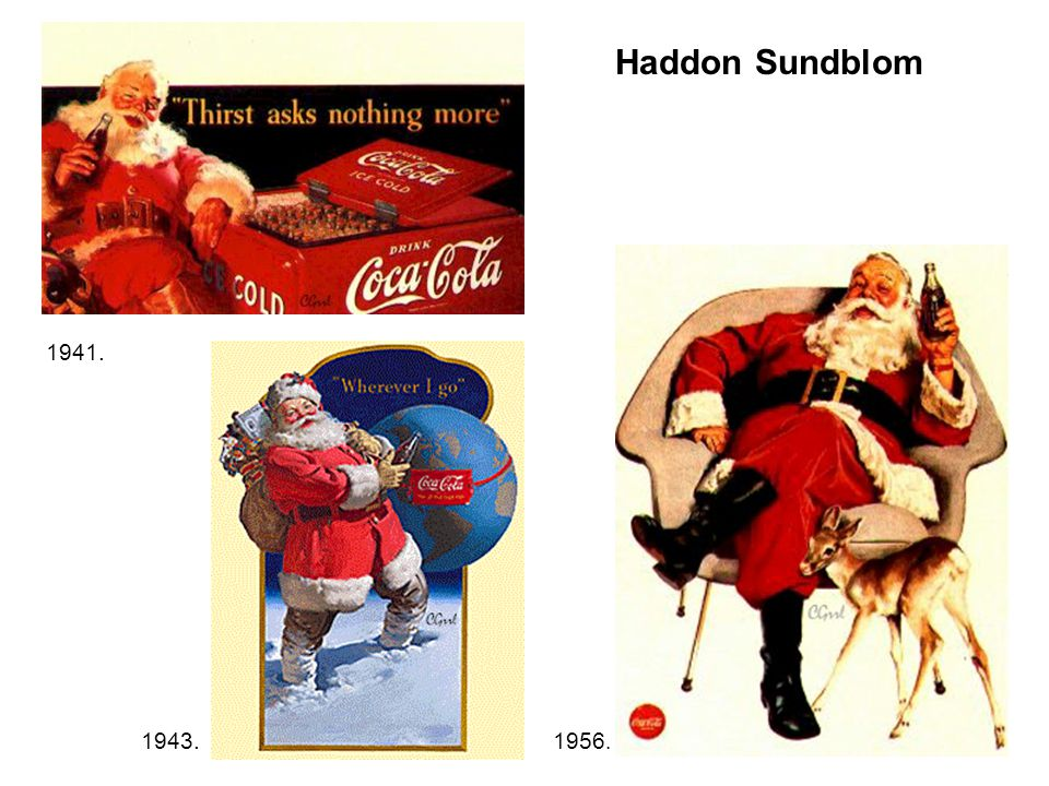 1941. 1943.1956. Haddon Sundblom