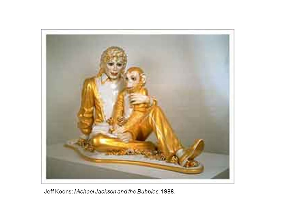 Jeff Koons: Michael Jackson and the Bubbles, 1988.