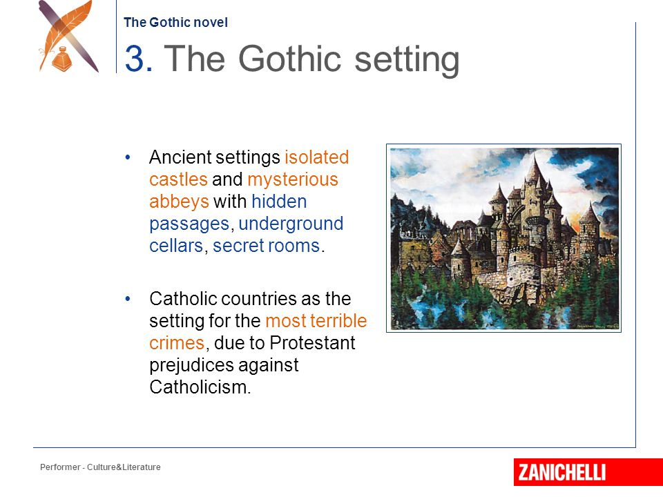 The Gothic novel Characters dominated by exaggerated reactions in front of mysterious situations or events.