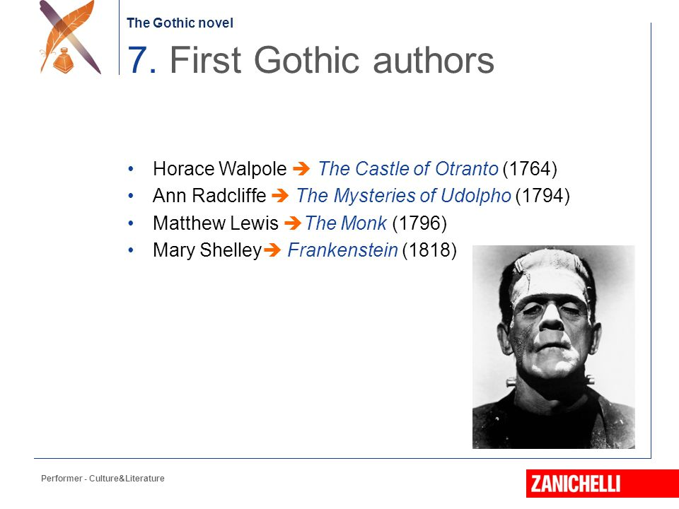 The Gothic novel Great interest during the 18 th century common to all strata of society.