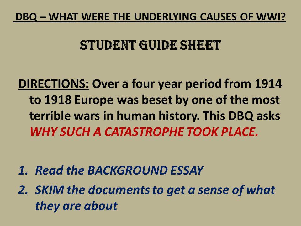 World War 1 Essay Topics