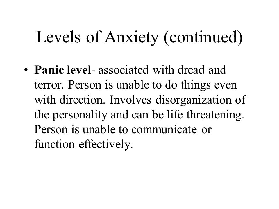 Medical Diagnoses Patients with mild or moderate anxiety have no medically diagnosed health problem.