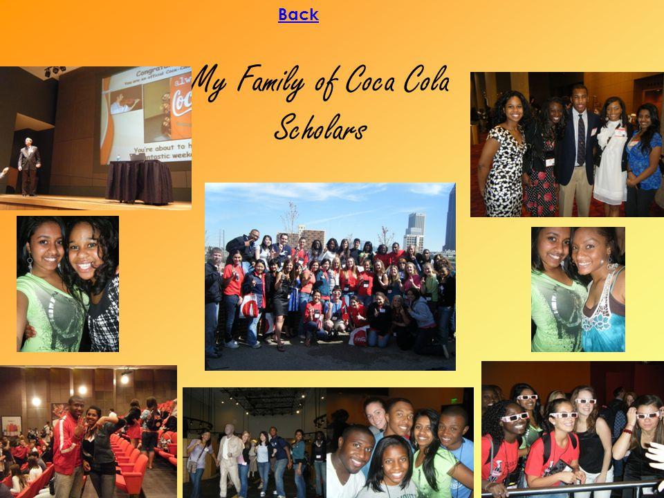 My Family of Coca Cola Scholars Back