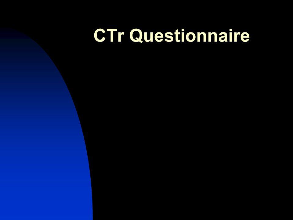 CTr Questionnaire