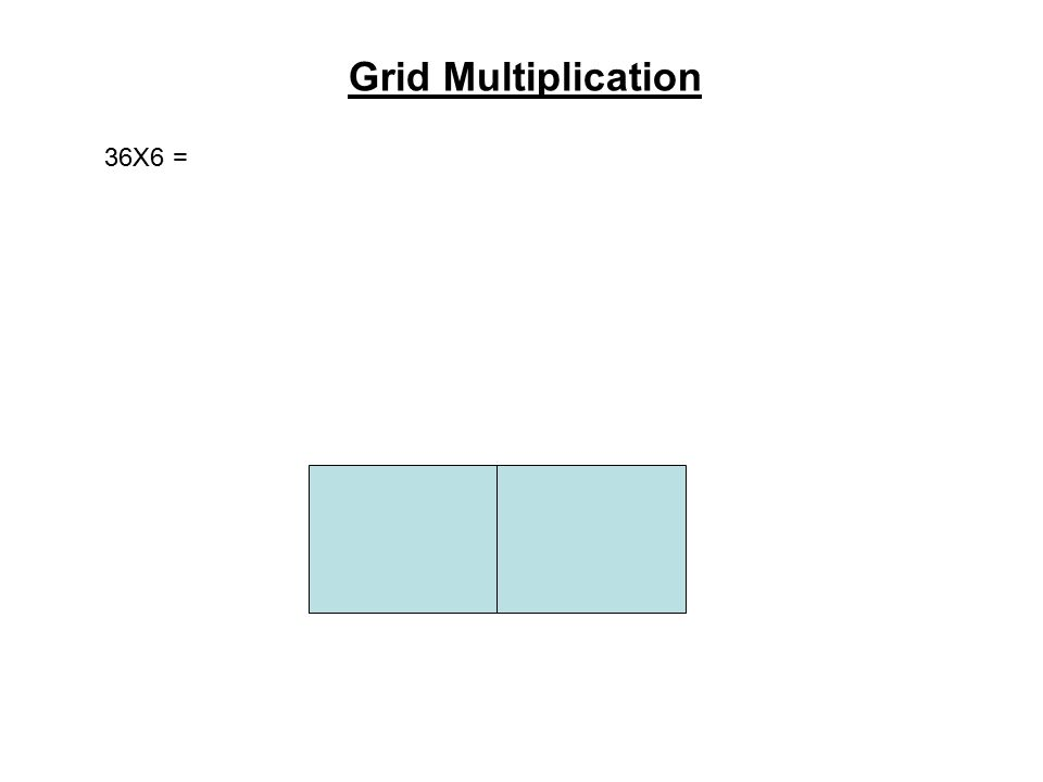 Grid Multiplication 36X6 =