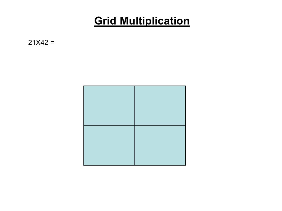 Grid Multiplication 21X42 =