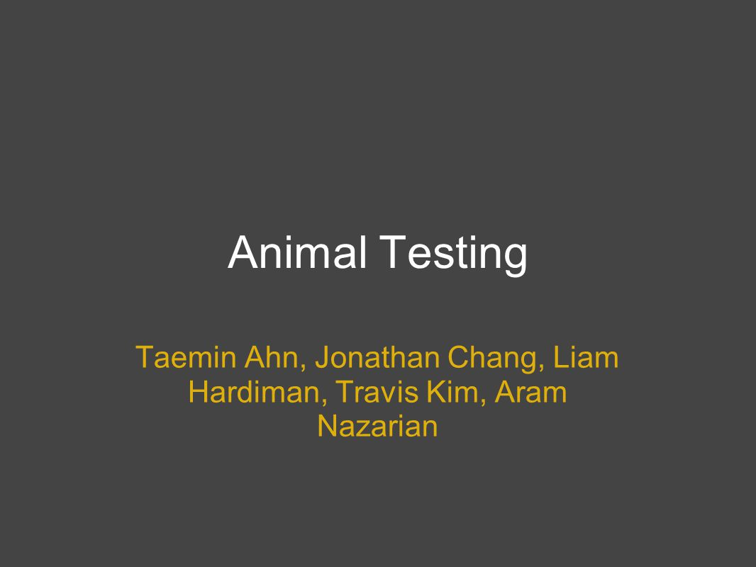 Definition Use of animals in experiments and development projects usually to determine toxicity, dosing and efficacy of test drugs before proceeding to human clinical trials. http://www.biology-online.org/dictionary/Animal_testing