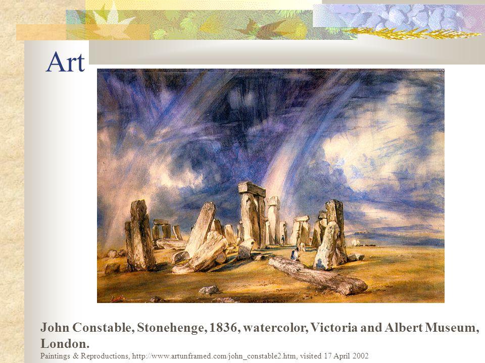 Art John Constable, Stonehenge, 1836, watercolor, Victoria and Albert Museum, London.