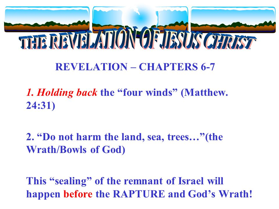 REVELATION – CHAPTERS 6-7 1. Holding back the four winds (Matthew.