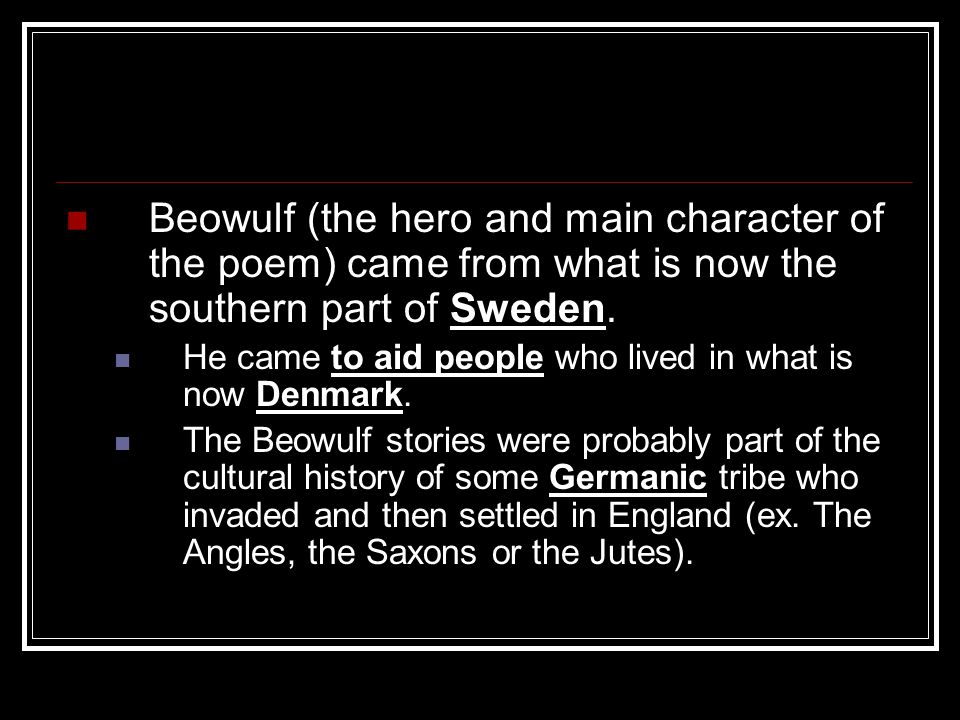 The fact that there are no references to pagan gods in the Beowulf poem, indicates that the poet came from a Christianized culture.