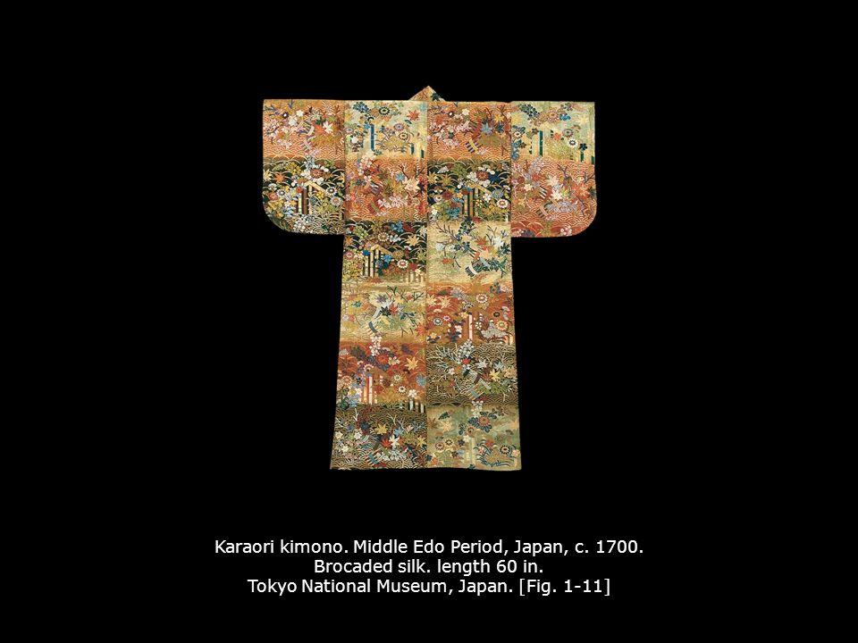Karaori kimono.Middle Edo Period, Japan, c. 1700.
