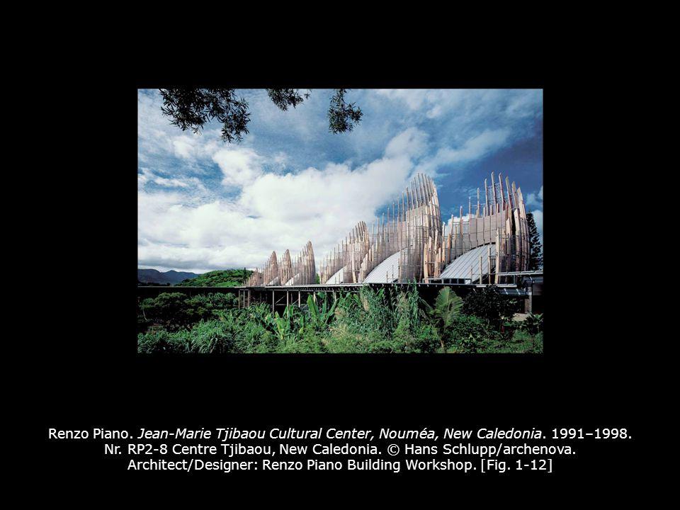 Renzo Piano.Jean-Marie Tjibaou Cultural Center, Nouméa, New Caledonia.