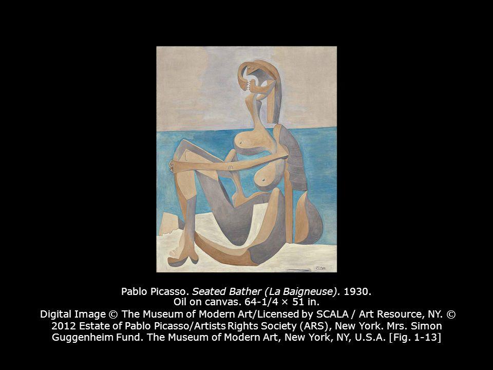 Pablo Picasso.Seated Bather (La Baigneuse). 1930.