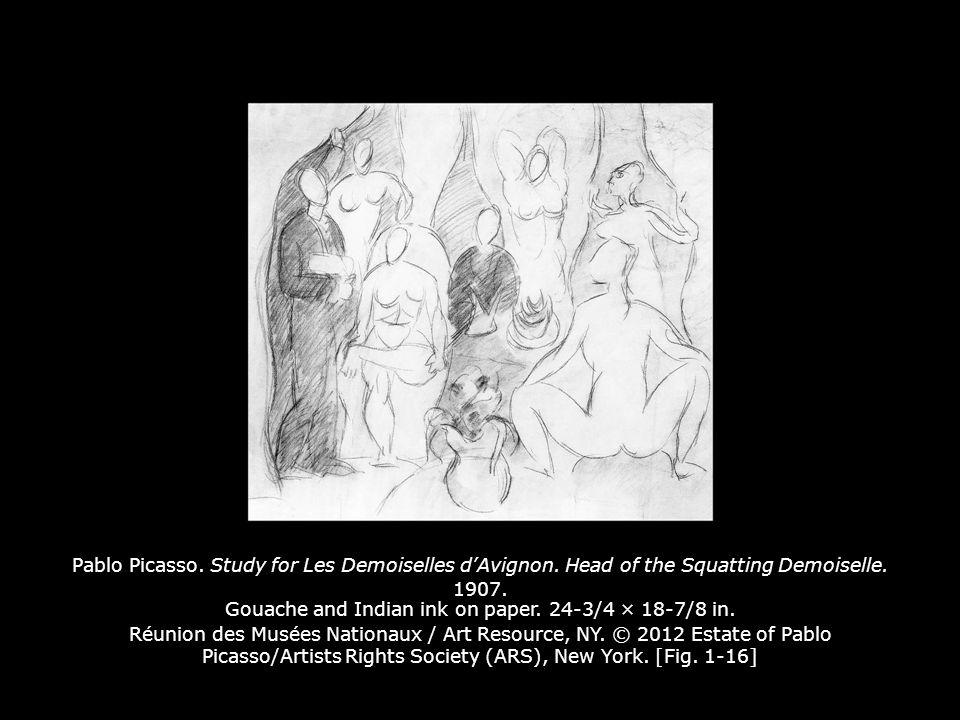 Pablo Picasso.Study for Les Demoiselles d'Avignon.